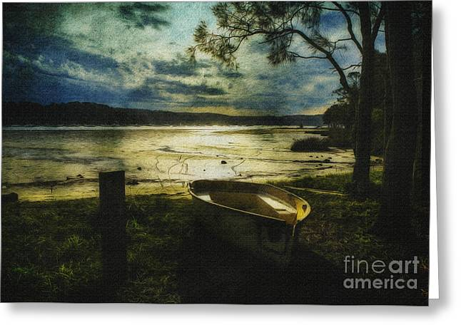 The Yellow Boat Greeting Card by Avalon Fine Art Photography