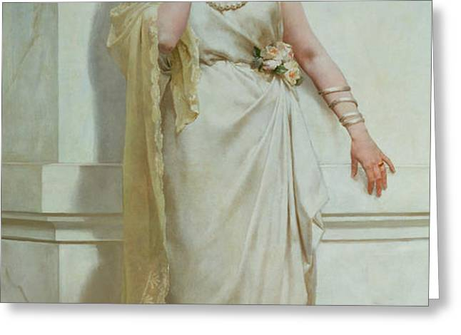 The Young Bride Greeting Card by Alcide Theophile Robaudi