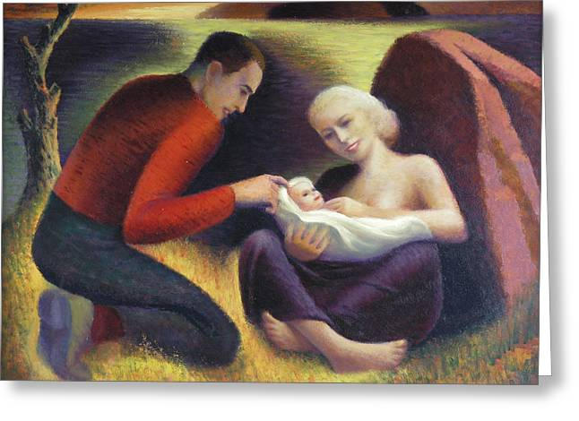 Family Love Greeting Cards - The Young Family  Greeting Card by Glen Heberling