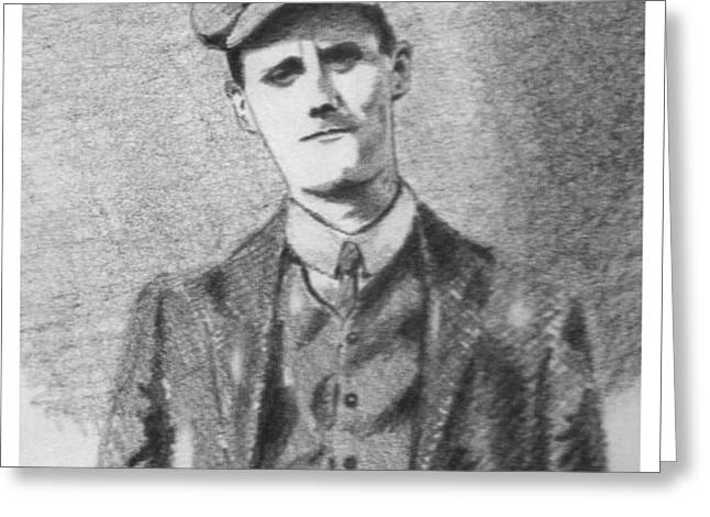 The Young James Joyce Greeting Card by John  Nolan