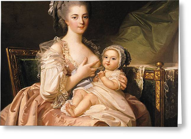 The Young Mother Greeting Card by Jean Laurent Mosnier