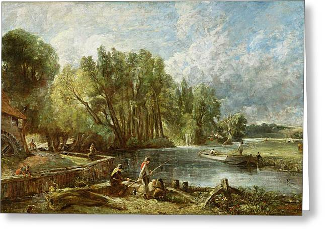 Constable Paintings Greeting Cards - The Young Waltonians - Stratford Mill Greeting Card by John Constable