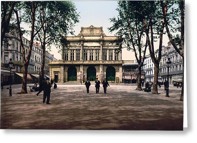 Southern France Greeting Cards - Theatre and Promenade in Beziers - France Greeting Card by International  Images