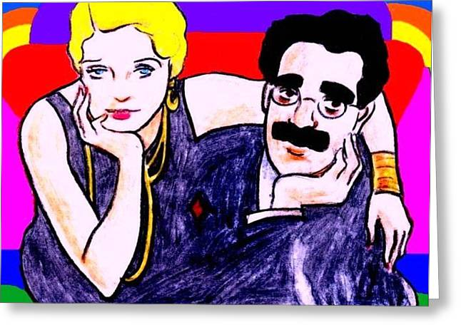 Thelma And Groucho Greeting Card by Mel Thompson