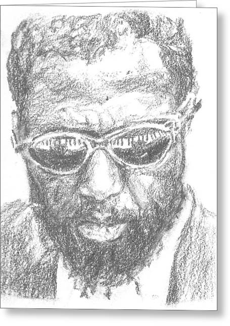 Thelonius Monk Greeting Cards - Thelonius Monk Greeting Card by Maya Lewis