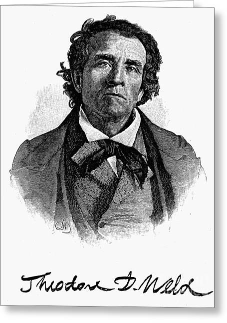 Abolition Greeting Cards - Theodore D. Weld (1803-1895) Greeting Card by Granger