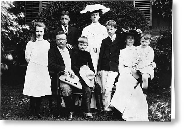 First-lady Greeting Cards - Theodore Roosevelt Family Greeting Card by Granger
