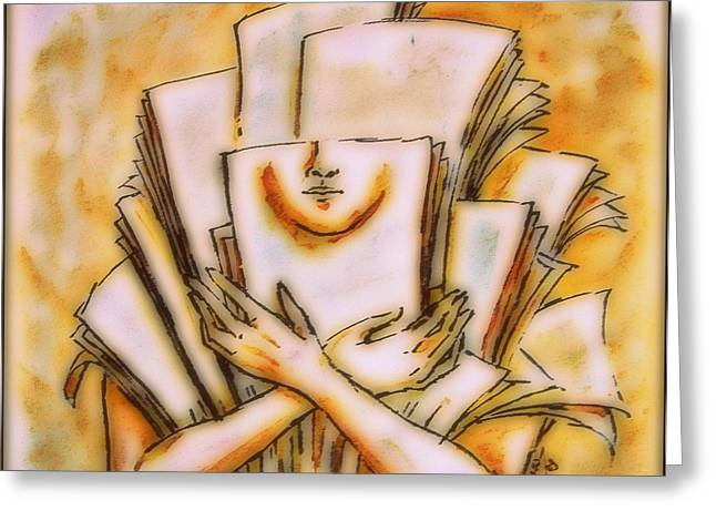 Disability Mixed Media Greeting Cards - Theory 1 Greeting Card by Paulo Zerbato