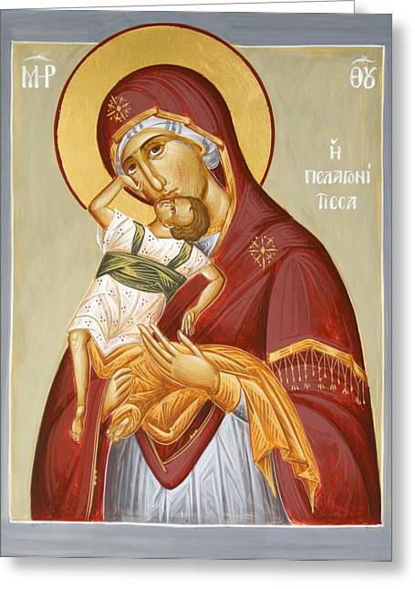 Theotokos Pelagonitisa Greeting Cards - Theotokos Pelagonitisa Greeting Card by Julia Bridget Hayes