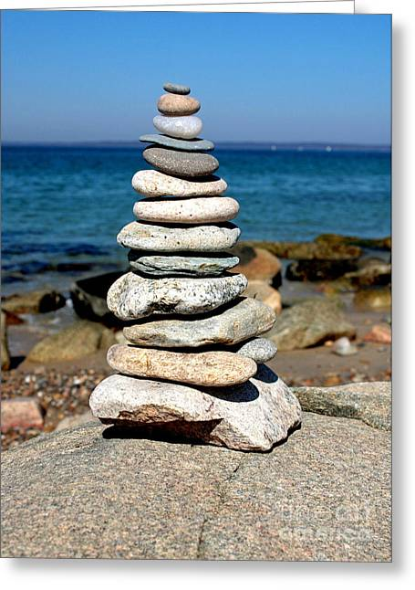 Therapy Greeting Cards - Therapeutic Rocks Greeting Card by Carol Groenen