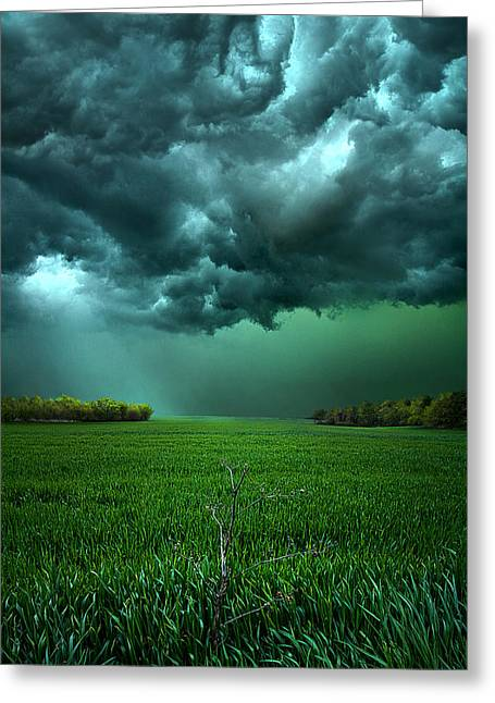 Field. Cloud Greeting Cards - There Came a WInd Greeting Card by Phil Koch