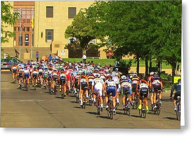 Tour Of The Gila Greeting Cards - There They Go Greeting Card by Feva  Fotos