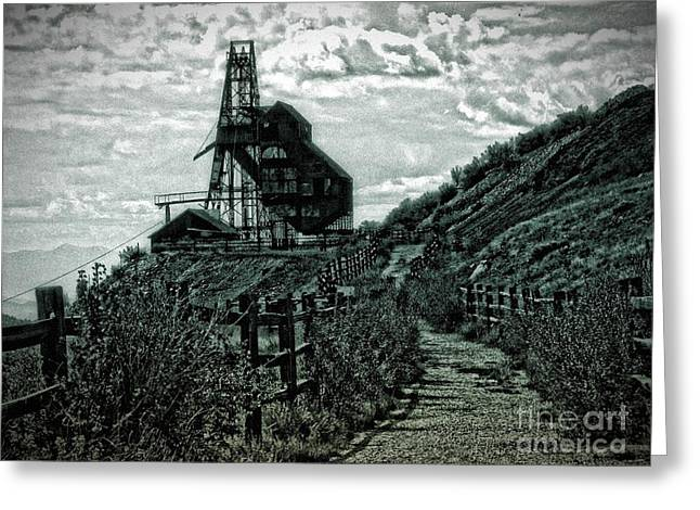 There's Gold In Them Hills Greeting Card by Christina Perry