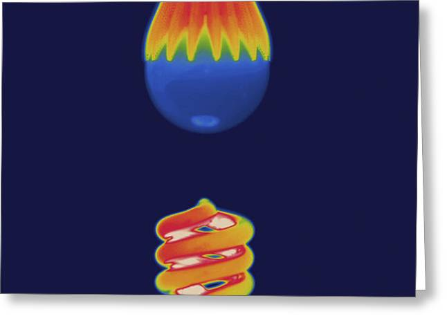 Thermal Image Comparing Energy Greeting Card by Tyrone Turner