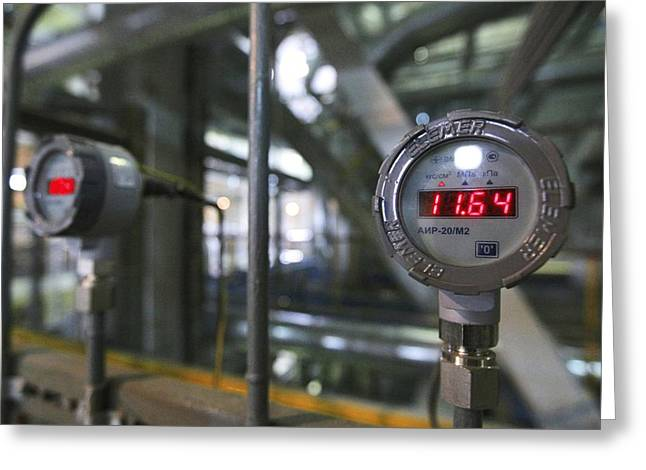 Electrical Meter Greeting Cards - Thermal Power Station Greeting Card by Ria Novosti