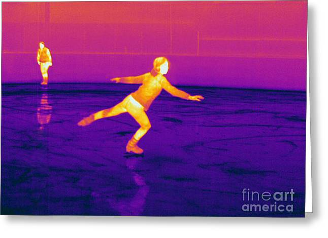 Electromagnetic Spectrum Greeting Cards - Thermogram Of A Skater Greeting Card by Ted Kinsman