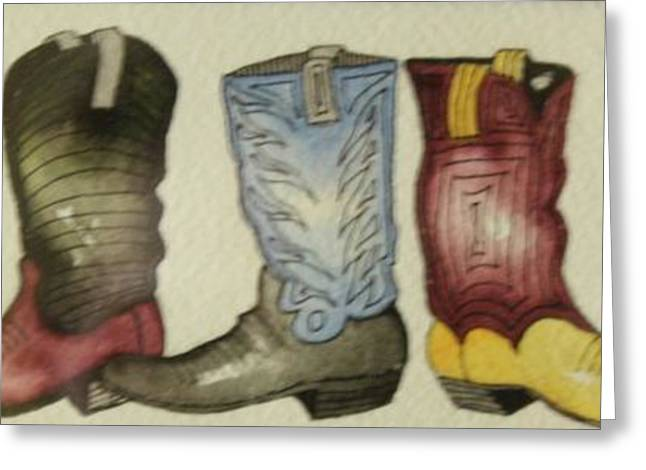 Fancy Boots Greeting Cards - These Boots Are Made for Dancing Greeting Card by Barbara Sutton