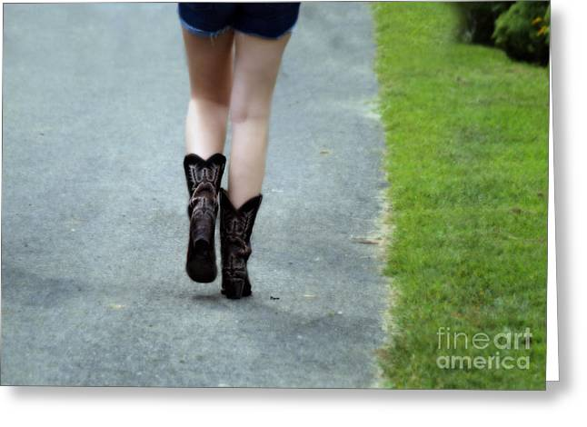 Boots Digital Art Greeting Cards - These boots are made for walking Greeting Card by Steven  Digman