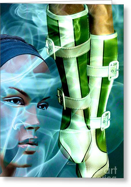 Boots Digital Art Greeting Cards - These Boots Greeting Card by Tammera Malicki-Wong