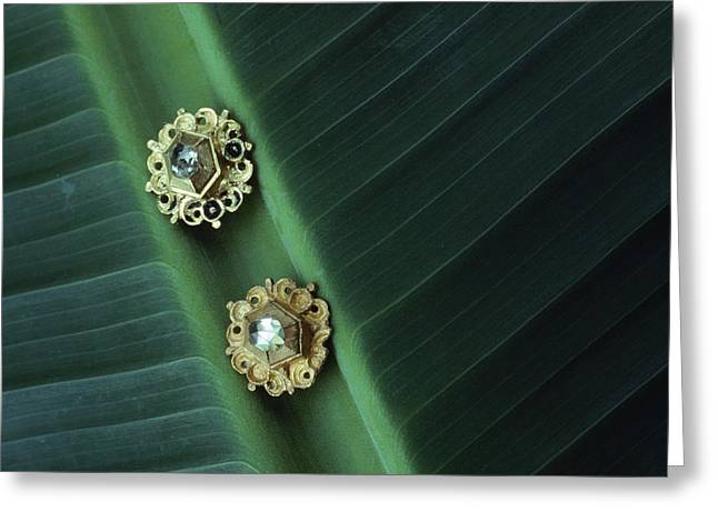 Antiquities And Artifacts Greeting Cards - These Diamond Earrings Were Found Greeting Card by Sisse Brimberg