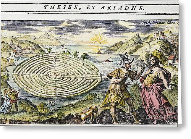 Theseus & Ariadne Greeting Card by Granger