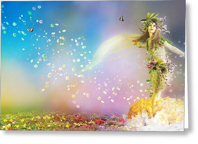 Leafs Digital Art Greeting Cards - They call me Spring Greeting Card by Karen H