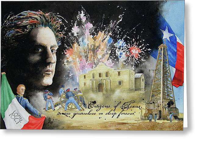 Texas Revolution Greeting Cards - They Dreamed of Texas Greeting Card by Gale Cochran-Smith