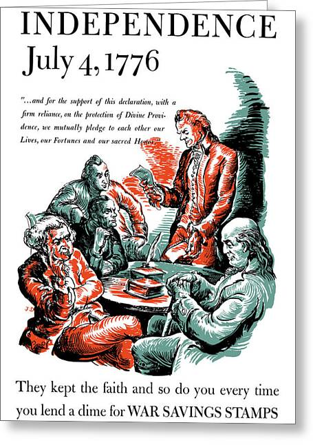 4th July Greeting Cards - They Kept The Faith Greeting Card by War Is Hell Store