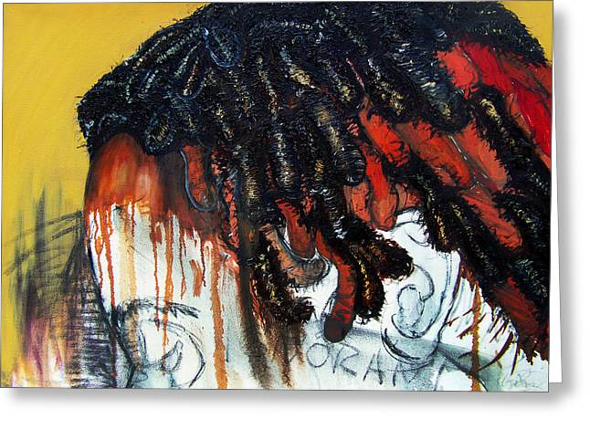 Dread Locks Greeting Cards - They saw my hair and called me ignorant before I spoke Greeting Card by Angie  Redmond Artist