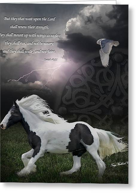 Quotation Greeting Cards - They Shall Run and Not Be Weary Greeting Card by Terry Kirkland Cook