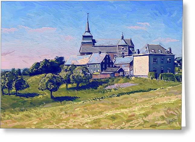Van Gogh Style Greeting Cards - Thimister Clermont Greeting Card by Nop Briex