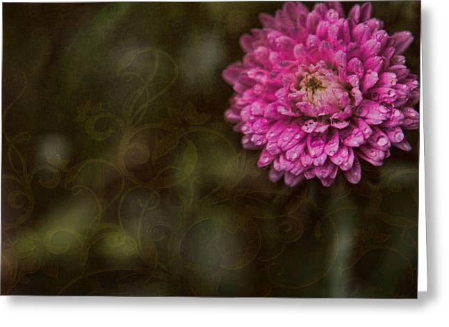 Pink Blossoms Digital Art Greeting Cards - Think Pink Greeting Card by Bonnie Bruno