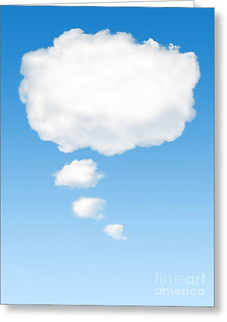 Speech Greeting Cards - Thinking Cloud Greeting Card by Carlos Caetano