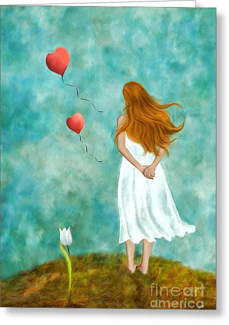 Balloon Flower Digital Art Greeting Cards - Thinking of You Greeting Card by AnaCB Studio