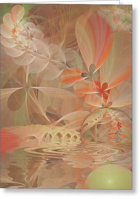 Fractal Art Pastels Greeting Cards - Thinking of You Greeting Card by Gayle Odsather