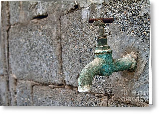 Thirsty Greeting Card by Stelios Kleanthous