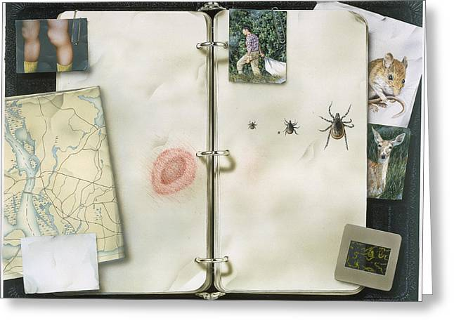 This Artwork Is Called Lyme Disease Greeting Card by Christopher Klein