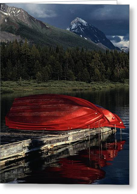 Reflection.etc Greeting Cards - This Boathouse Has Catered To Anglers Greeting Card by Raymond Gehman