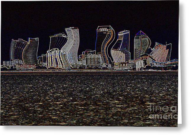 This City Is Rockin' Greeting Card by Carol Groenen