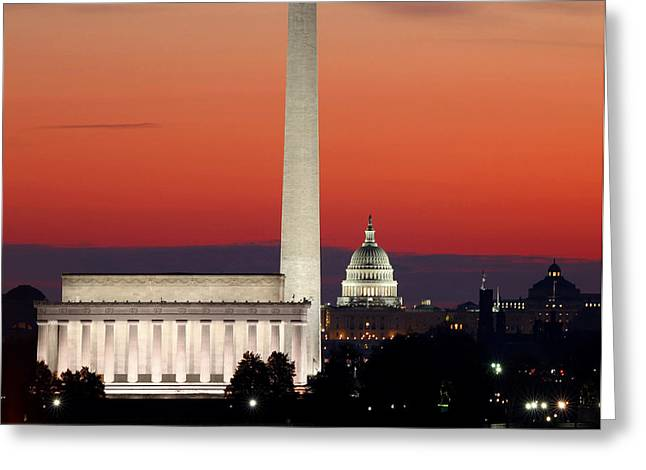 Washington Monument Greeting Cards - This City Greeting Card by Mitch Cat