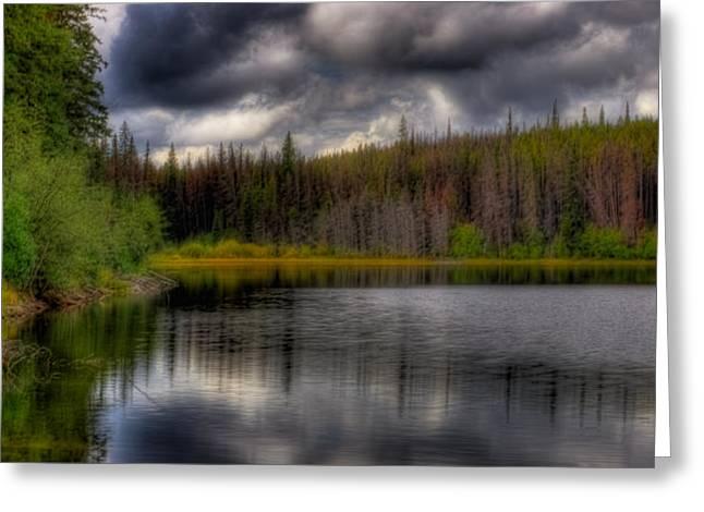 Merrit Greeting Cards - This is British Columbia 19 - Pinnacle Lake Greeting Card by Paul W Sharpe Aka Wizard of Wonders