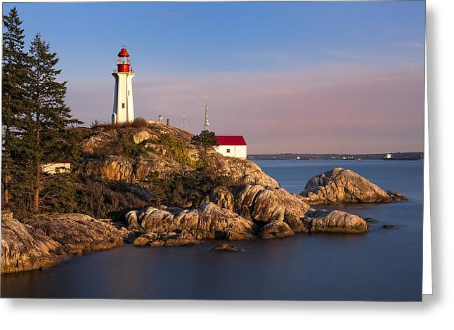 West Vancouver Greeting Cards - This is British Columbia No.62 - Point Atkinson Lighthouse Point Greeting Card by Paul W Sharpe Aka Wizard of Wonders
