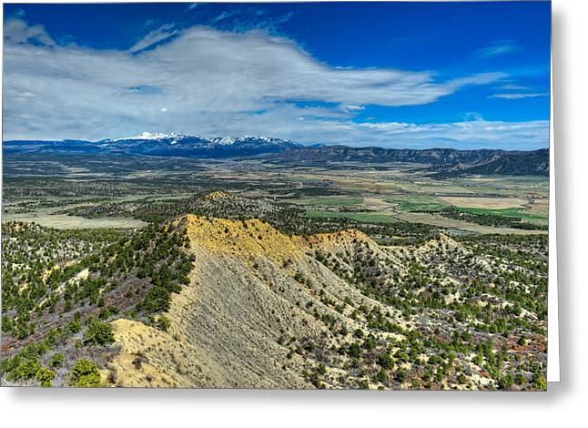 Mesa Verde Greeting Cards - This is Colorado No. 3 - Mesa Verde Vista Greeting Card by Paul W Sharpe Aka Wizard of Wonders