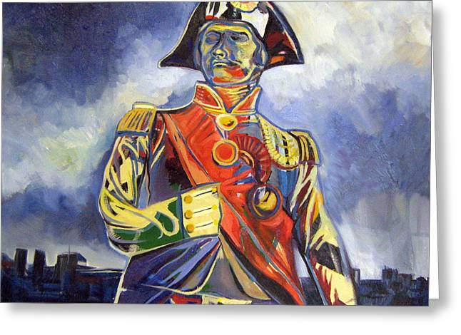 Lord Nelson Paintings Greeting Cards - This is Lord Nelson Greeting Card by Rebecca Williams