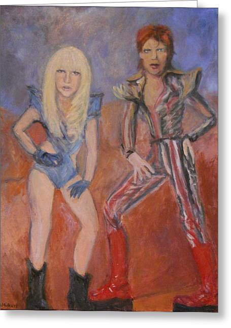 Best Sellers -  - Demoiselles Greeting Cards - This is the Fame Greeting Card by Gerald Hubert