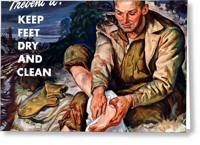This Is Trench Foot Greeting Card by War Is Hell Store