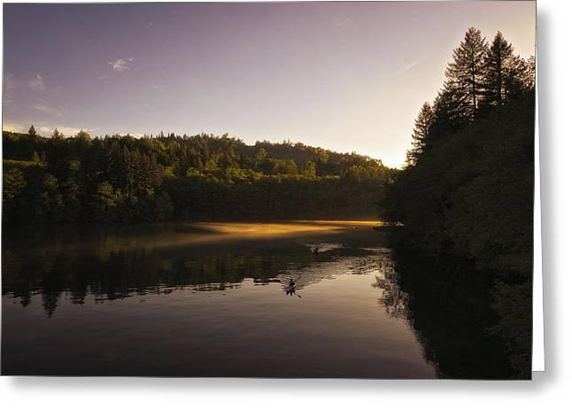 Mayfield Greeting Cards - This is Washington State No. 8 - Kayak Washington State Greeting Card by Paul W Sharpe Aka Wizard of Wonders