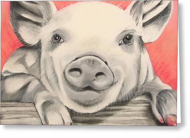 This little piggy... Greeting Card by Michelle Hayden-Marsan