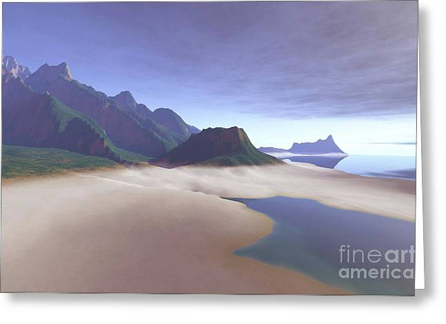 Land Feature Greeting Cards - This Misty Hawaiin Coastline Greeting Card by Corey Ford