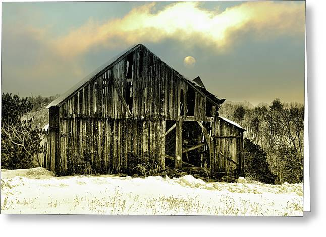 Farmers Field Greeting Cards - This Old Barn Greeting Card by Bill Cannon